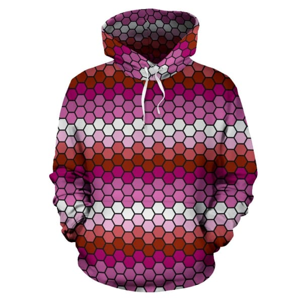 All Over Hoodie - Lesbian Honeycomb