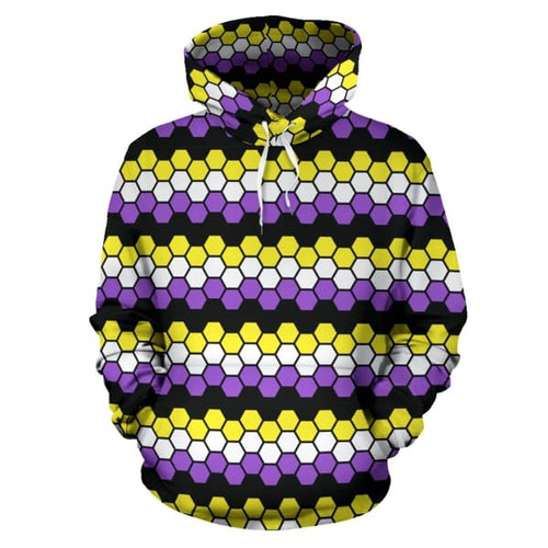 All Over Hoodie - Non Binary Honeycomb