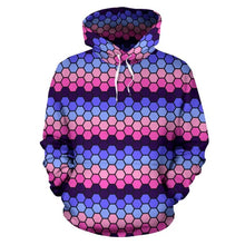 All Over Hoodie - Omnisexual Honeycomb