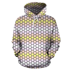 All Over Hoodie - Pangender Honeycomb