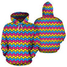 All Over Hoodie - Pansexual Honeycomb