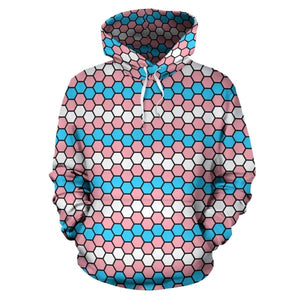All Over Hoodie - Transgender Honeycomb