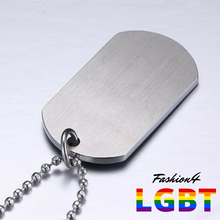 Dog Tag - Lgbt Flag Necklace