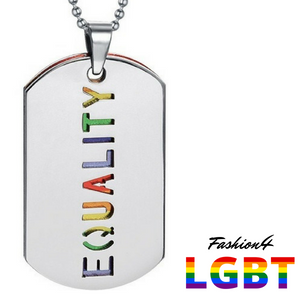 Double Dog Tag - Lgbt Flag & Equality Necklace