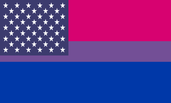 Flag Bisexual Usa