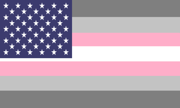 Flag Demigirl Usa