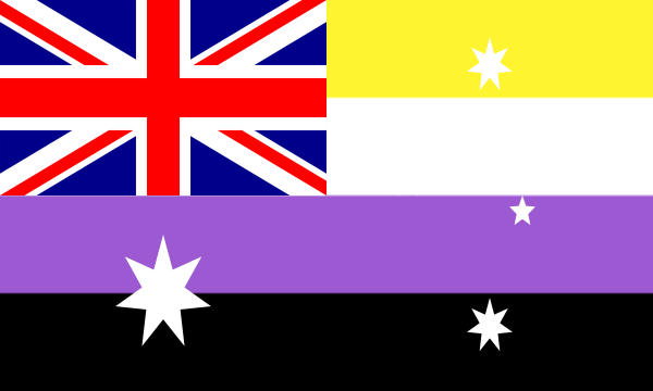 Flag Non Binary Australia