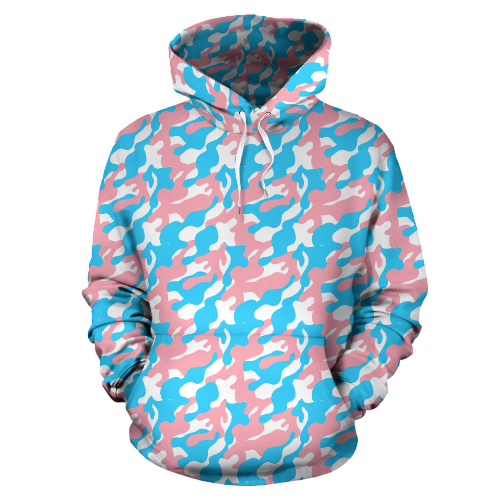 All Over Hoodie - Transgender Camouflage