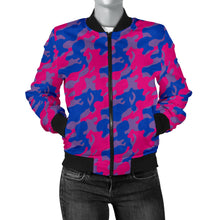 Women's Bomber Jacket - Bisexual Camouflage