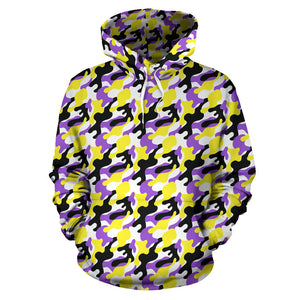 All Over Hoodie - Non-Binary Camouflage