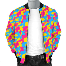 Men's Bomber Jacket - Pansexual Camouflage