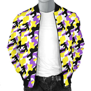 Masculine Bomber Jacket - Non-Binary Camouflage