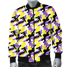 Men's Bomber Jacket - Non-Binary Camouflage