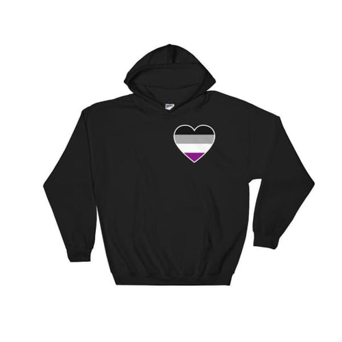 Hooded Sweatshirt - Ace Heart Black / S