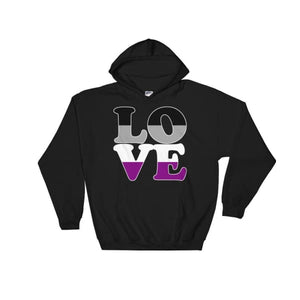 Hooded Sweatshirt - Ace Love Black / S