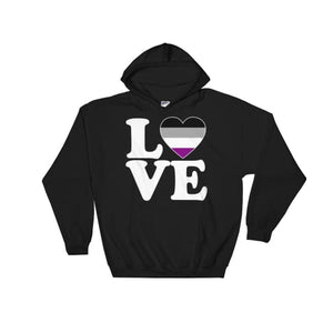 Hooded Sweatshirt - Ace Love & Heart Black / S