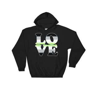 Hooded Sweatshirt - Agender Love Black / S