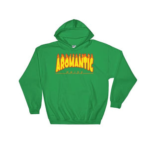 Hooded Sweatshirt - Aromantic Flames Irish Green / S
