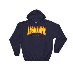 Hooded Sweatshirt - Aromantic Flames Navy / S
