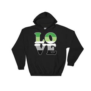 Hooded Sweatshirt - Aromantic Love Black / S