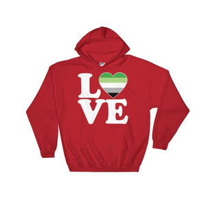 Hooded Sweatshirt - Aromantic Love & Heart Red / S