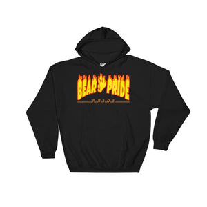 Hooded Sweatshirt - Bear Pride Flames Black / S