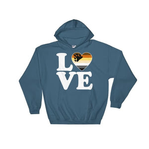 Hooded Sweatshirt - Bear Pride Love & Heart Indigo Blue / S