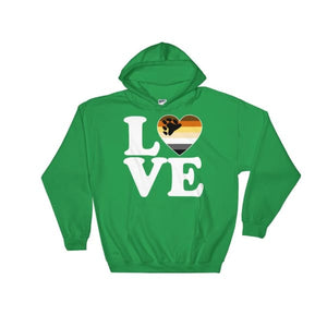 Hooded Sweatshirt - Bear Pride Love & Heart Irish Green / S