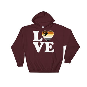 Hooded Sweatshirt - Bear Pride Love & Heart Maroon / S