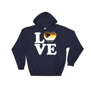 Hooded Sweatshirt - Bear Pride Love & Heart Navy / S