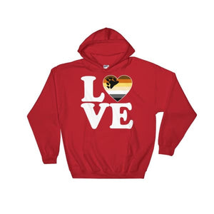 Hooded Sweatshirt - Bear Pride Love & Heart Red / S