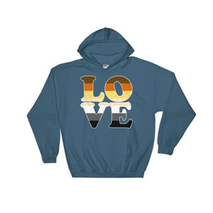 Hooded Sweatshirt - Bear Pride Love Indigo Blue / S