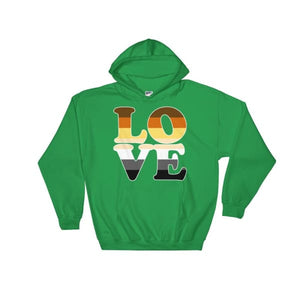 Hooded Sweatshirt - Bear Pride Love Irish Green / S