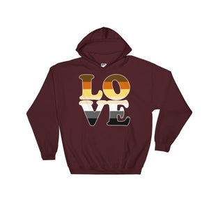 Hooded Sweatshirt - Bear Pride Love Maroon / S