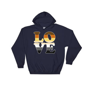 Hooded Sweatshirt - Bear Pride Love Navy / S