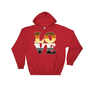 Hooded Sweatshirt - Bear Pride Love Red / S