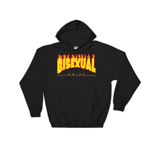 Hooded Sweatshirt - Bisexual Flames Black / S