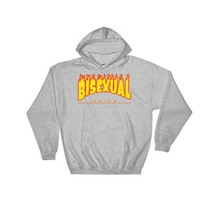 Hooded Sweatshirt - Bisexual Flames Sport Grey / S