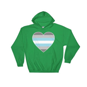 Hooded Sweatshirt - Demiboy Big Heart Irish Green / S