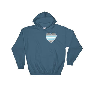 Hooded Sweatshirt - Demiboy Heart Indigo Blue / S