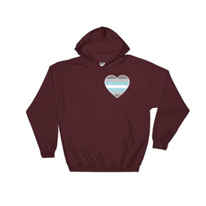Hooded Sweatshirt - Demiboy Heart Maroon / S