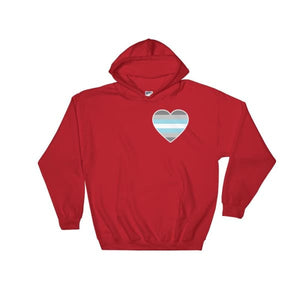 Hooded Sweatshirt - Demiboy Heart Red / S