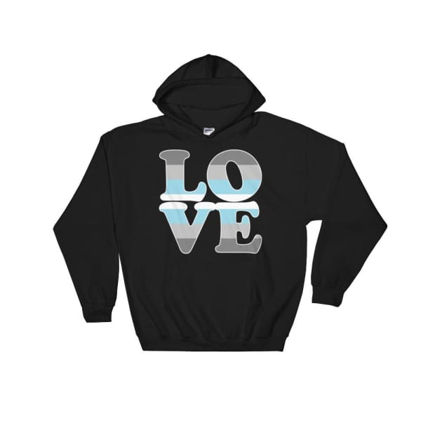 Hooded Sweatshirt - Demiboy Love Black / S