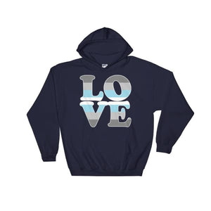 Hooded Sweatshirt - Demiboy Love Navy / S