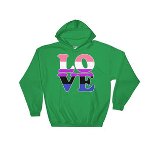 Hooded Sweatshirt - Genderfluid Love Irish Green / S