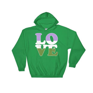 Hooded Sweatshirt - Genderqueer Love Irish Green / S