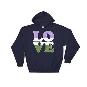 Hooded Sweatshirt - Genderqueer Love Navy / S