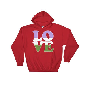 Hooded Sweatshirt - Genderqueer Love Red / S