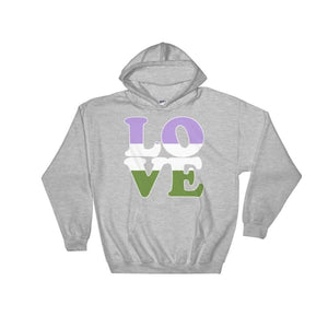Hooded Sweatshirt - Genderqueer Love Sport Grey / S