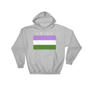 Hooded Sweatshirt - Genderqueer Pride Sport Grey / S